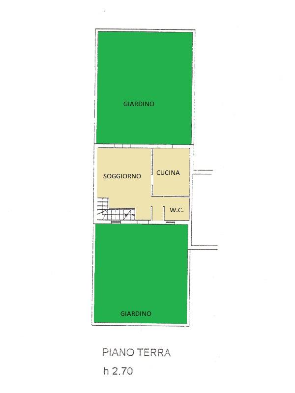 Villetta a schiera in vendita, rif. 516 (Planimetria 1/2)