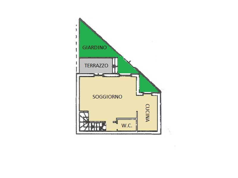 Villetta a schiera in vendita, rif. 14 (Planimetria 1/3)