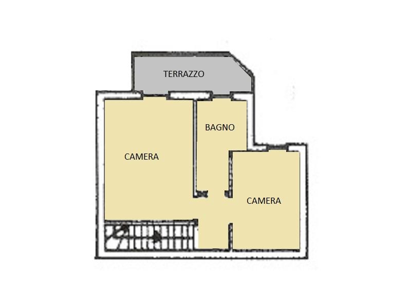 Villetta a schiera in vendita, rif. 14 (Planimetria 2/3)
