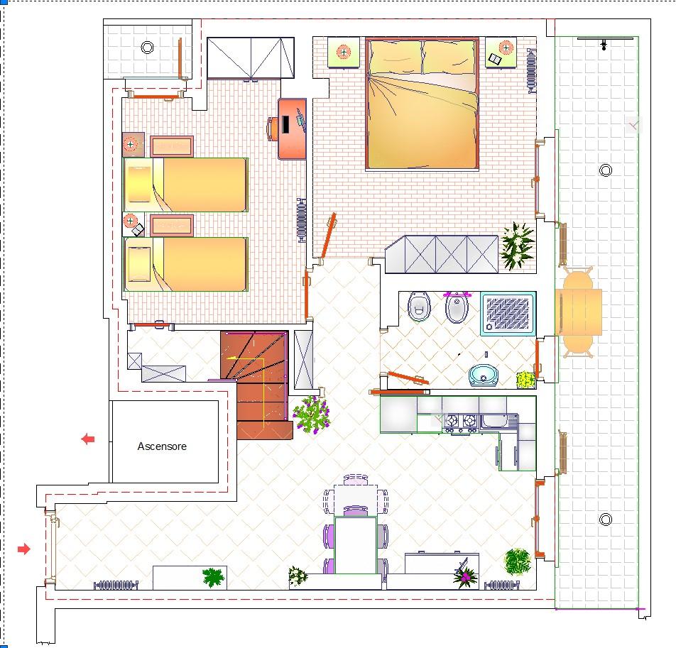 Appartamento in vendita, rif. 574 (Planimetria 1/2)