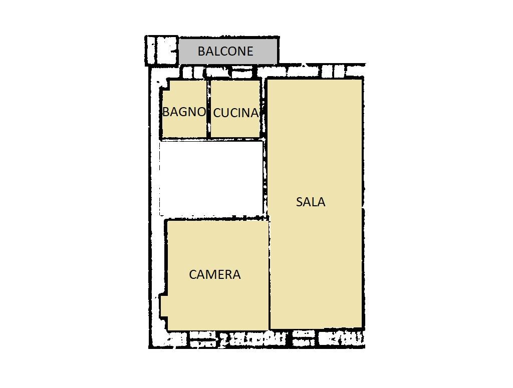 Appartamento in vendita, rif. 402 (Planimetria 1/2)