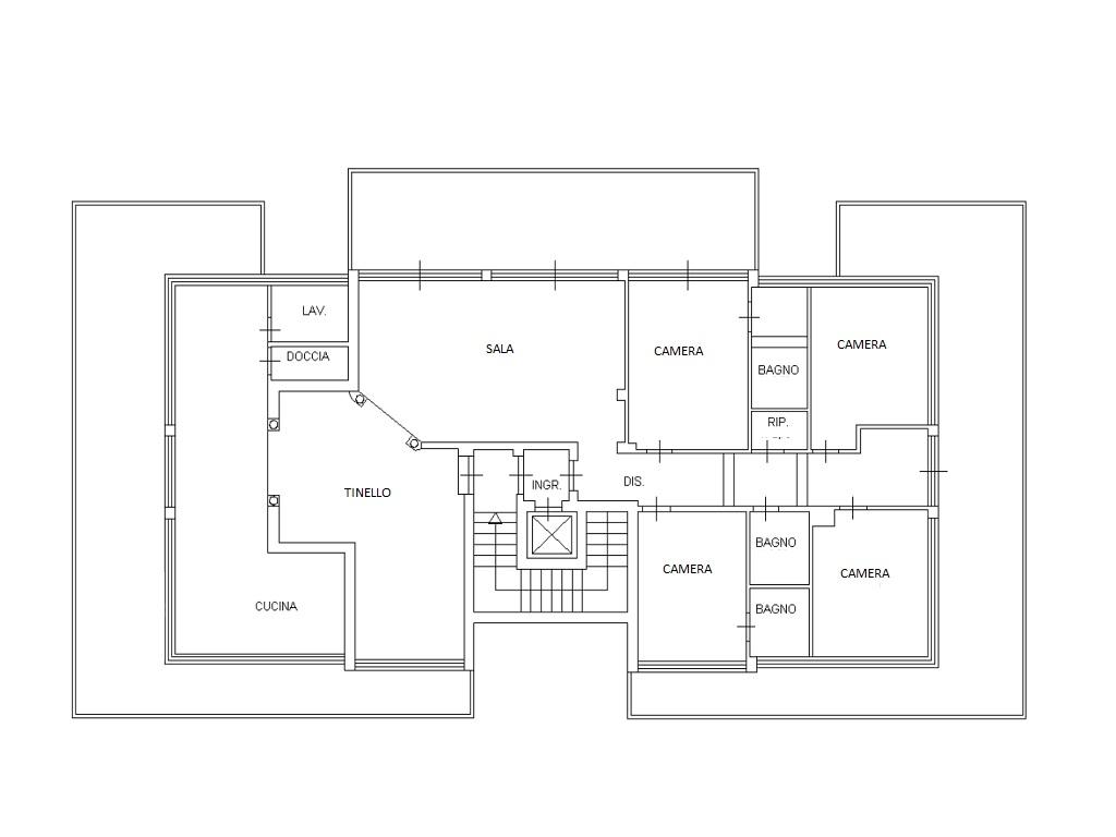 Attico in vendita, rif. 335 (Planimetria 1/2)
