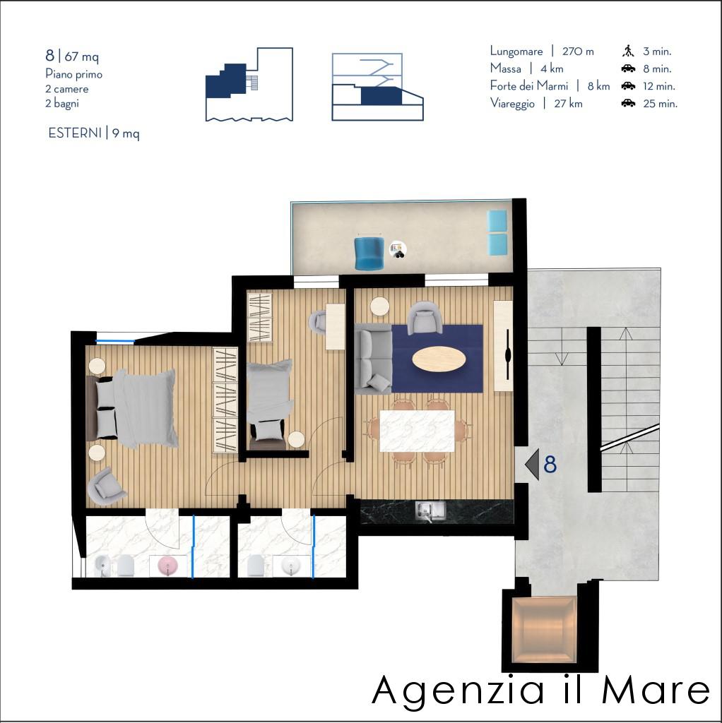 Appartamento in vendita, rif. 513-B (Planimetria 2/2)