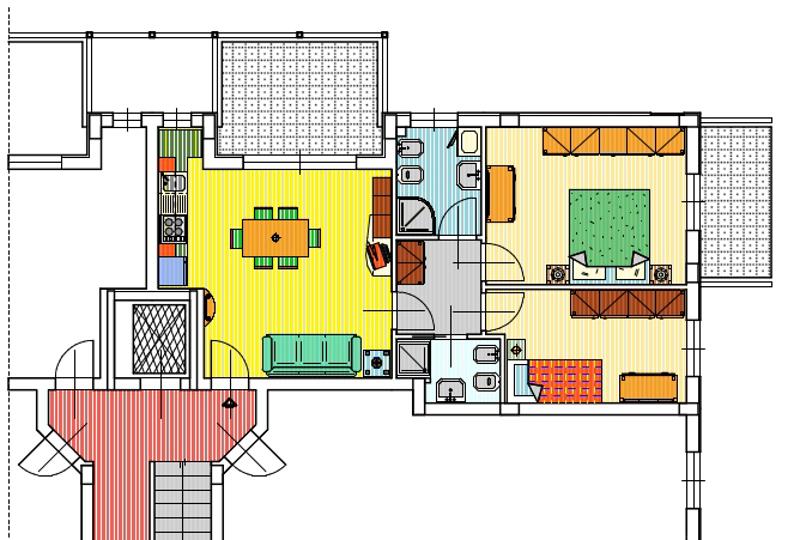 Appartamento in vendita, rif. 57 (Planimetria 2/2)