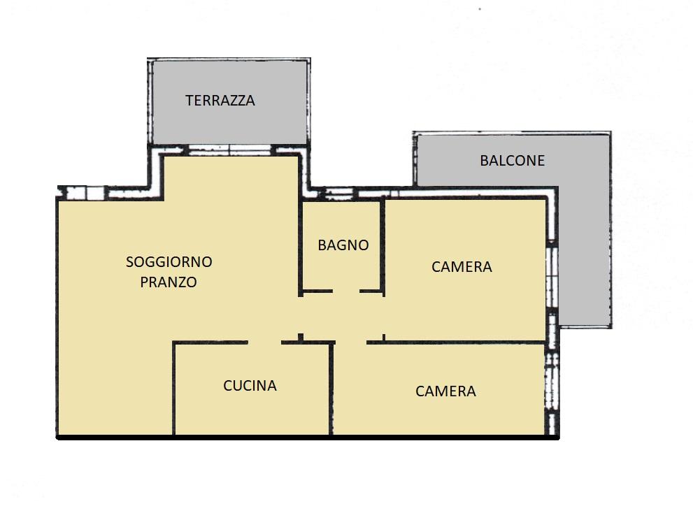 Appartamento in vendita, rif. 86 (Planimetria 1/1)