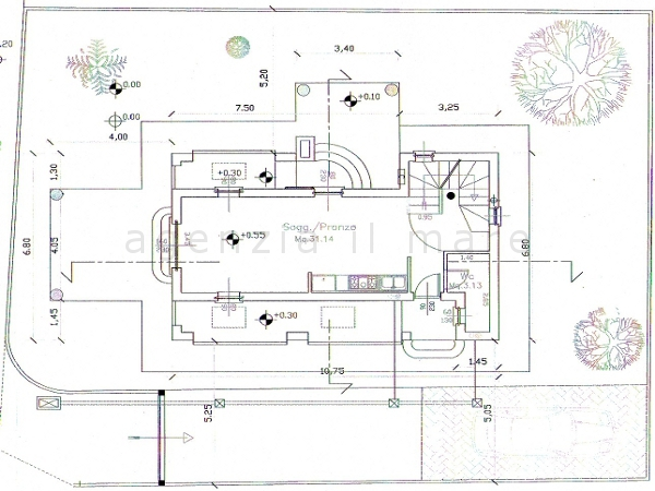Villa singola in vendita, rif. 237 (Planimetria 1/3)