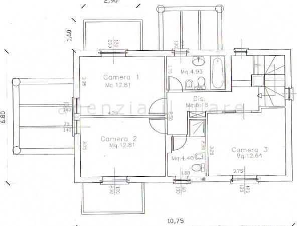 Villa singola in vendita, rif. 237 (Planimetria 2/3)