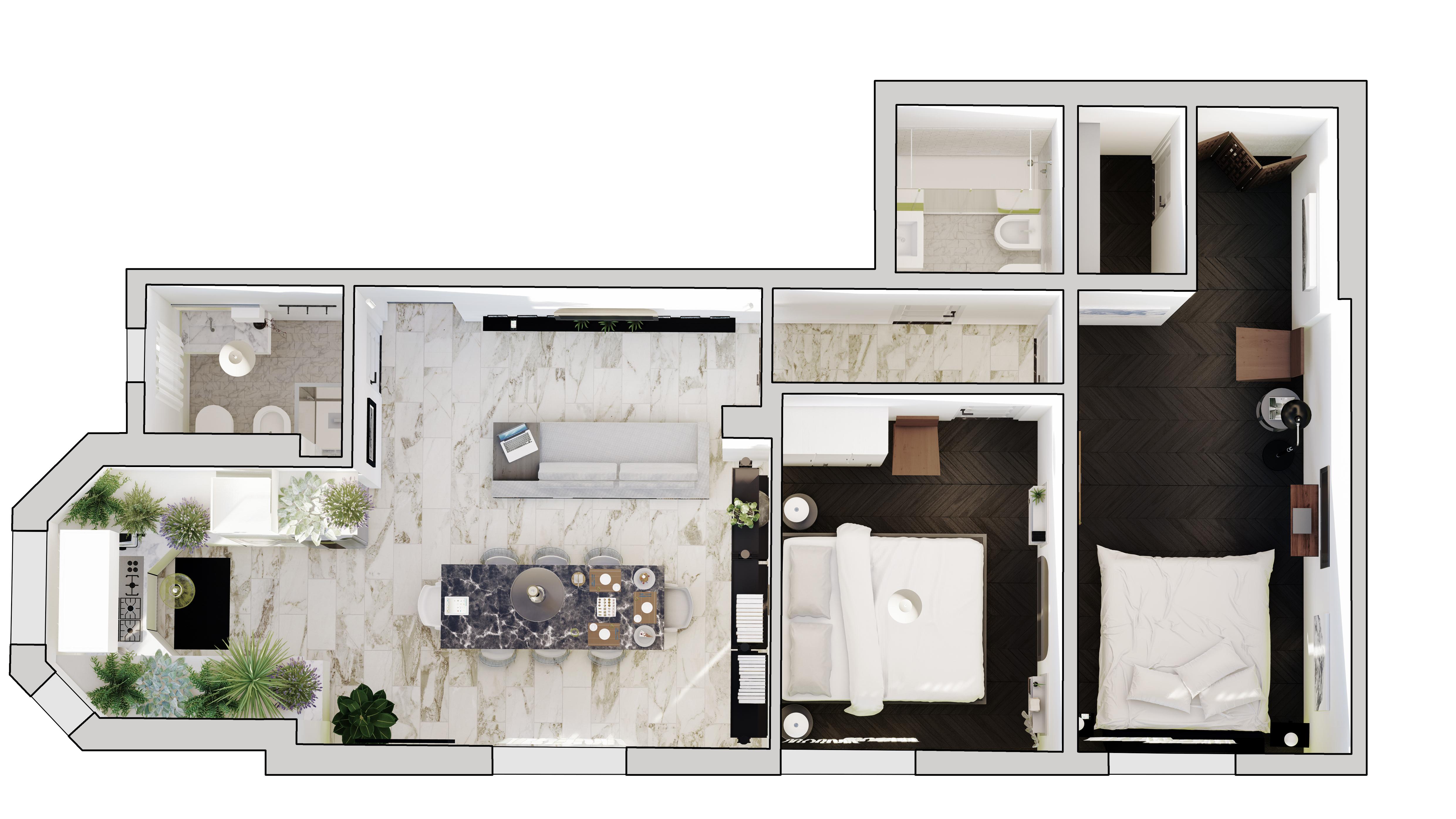 Appartamento in vendita, rif. 121 (Planimetria 1/1)