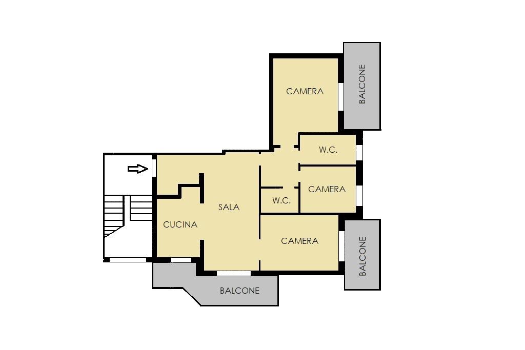 Appartamento in vendita, rif. 342 (Planimetria 1/1)