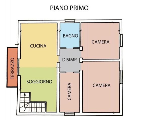 Casa singola in vendita, rif. 586 (Planimetria 2/3)