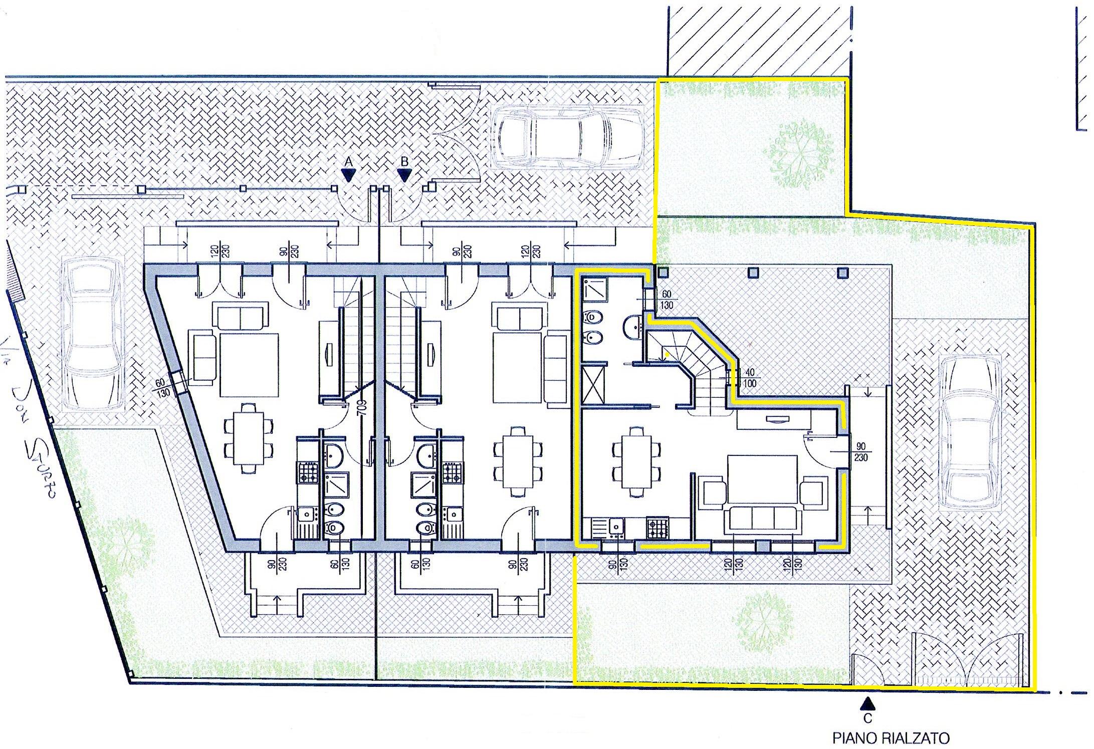 Villetta trifamiliare in vendita, rif. 264 (Planimetria 1/3)