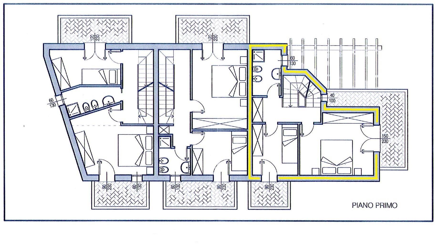 Villetta trifamiliare in vendita, rif. 264 (Planimetria 2/3)
