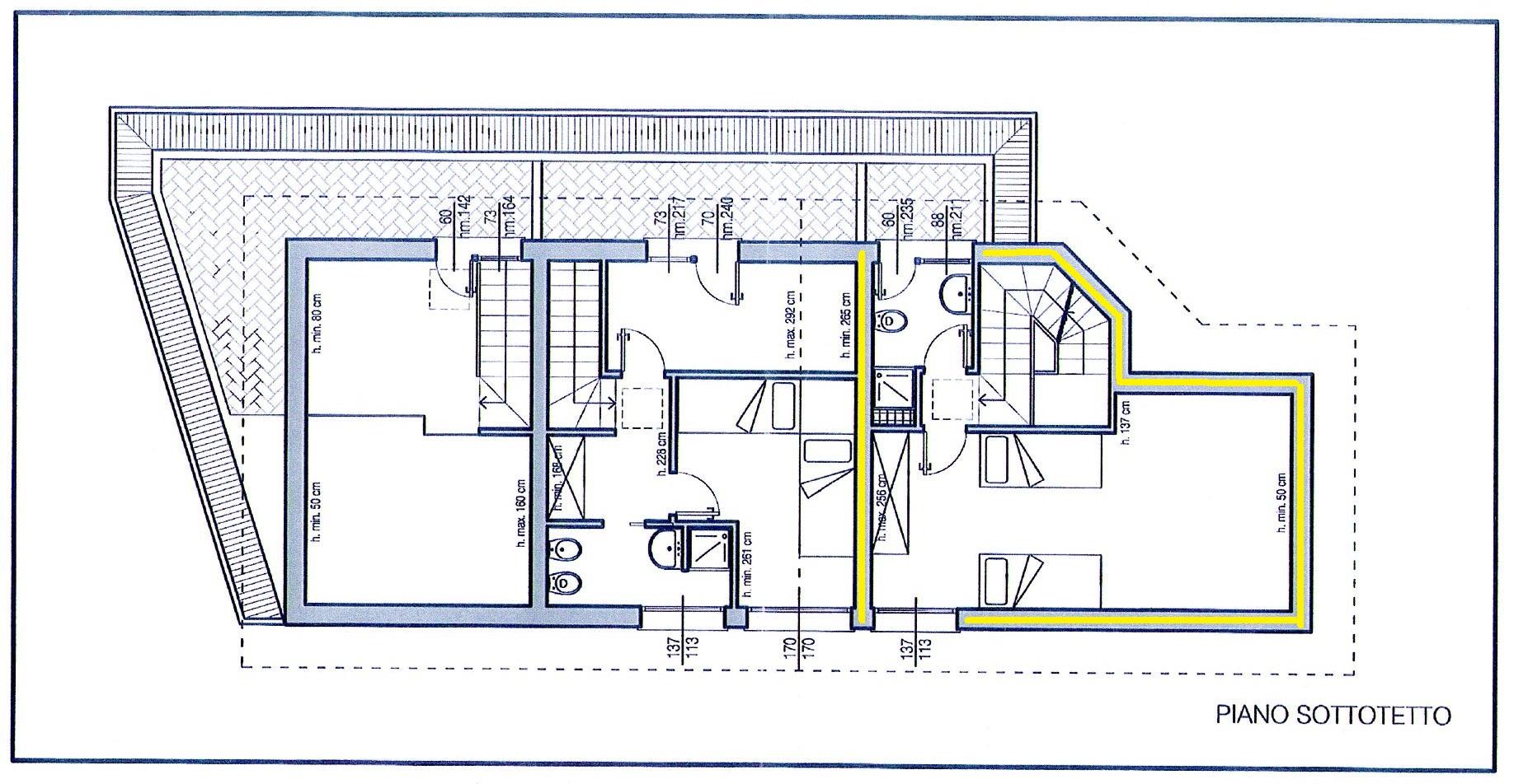 Villetta trifamiliare in vendita, rif. 264 (Planimetria 3/3)