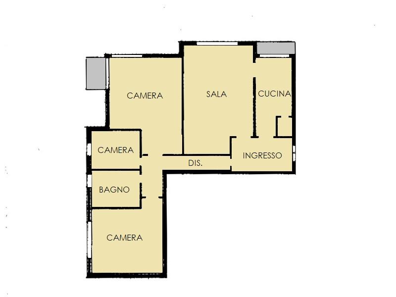 Appartamento in vendita, rif. 571 (Planimetria 1/1)