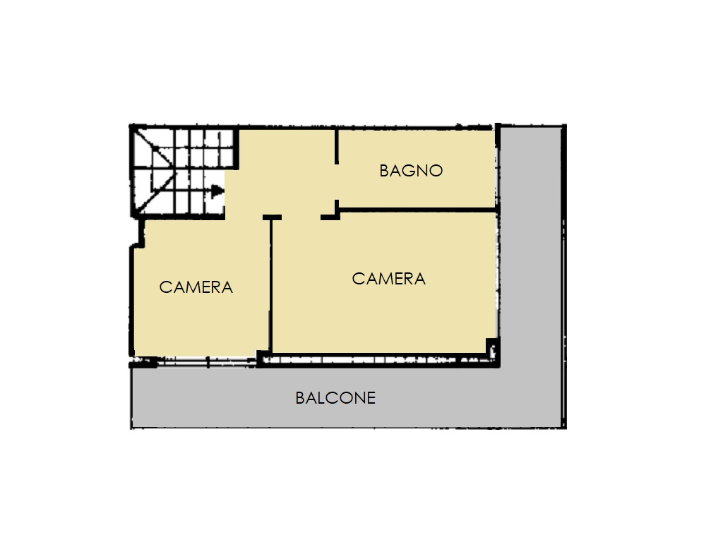 Villetta a schiera in vendita, rif. 420 (Planimetria 2/3)