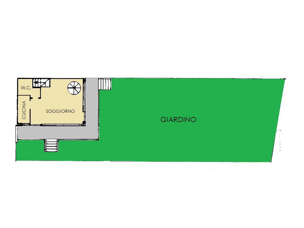 Villetta a schiera in vendita, rif. 420 (Planimetria 1/3)