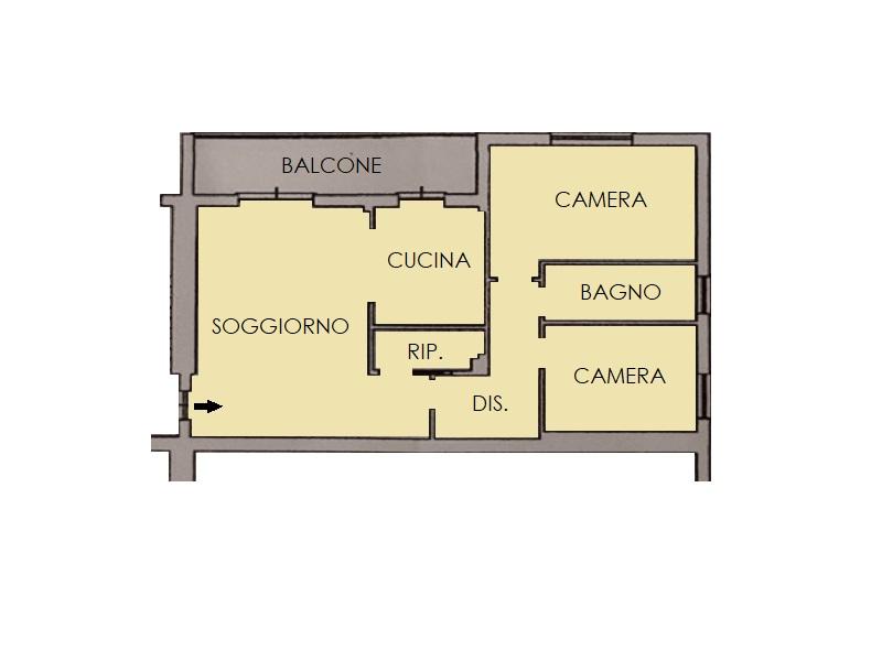 Appartamento in vendita, rif. 393 (Planimetria 1/1)