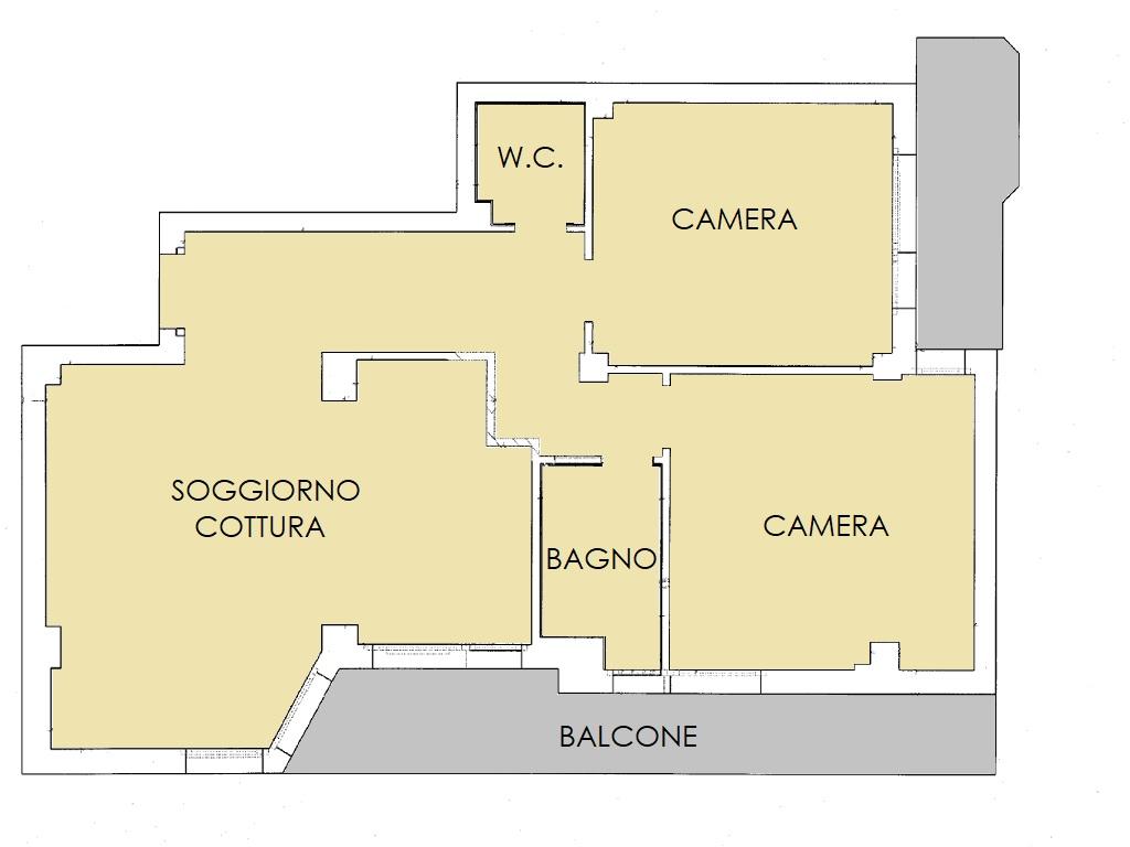 Appartamento in vendita, rif. 80 (Planimetria 1/1)