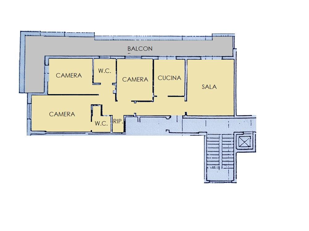Appartamento in vendita, rif. 85 (Planimetria 1/1)