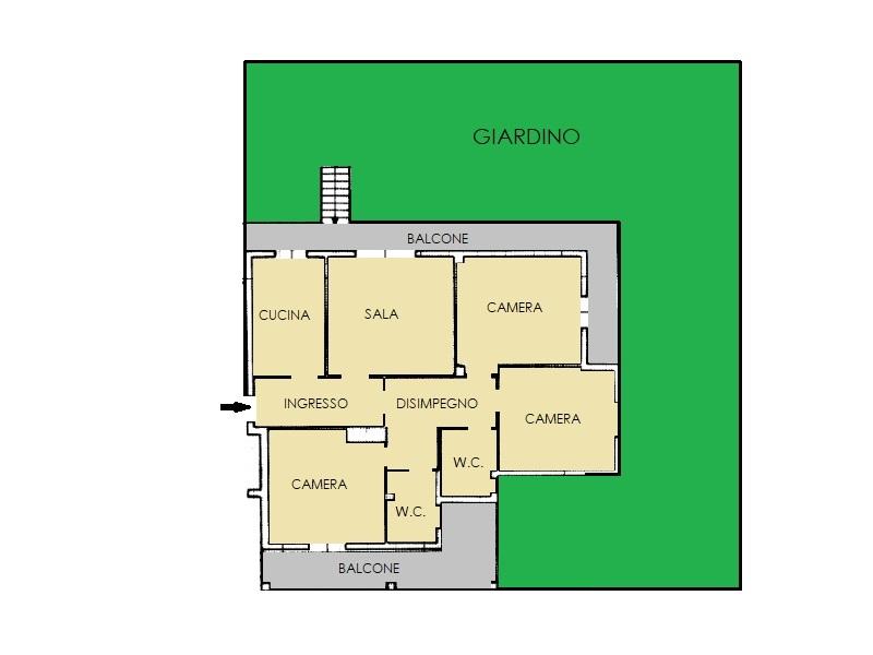 Appartamento in vendita, rif. 595 (Planimetria 1/1)
