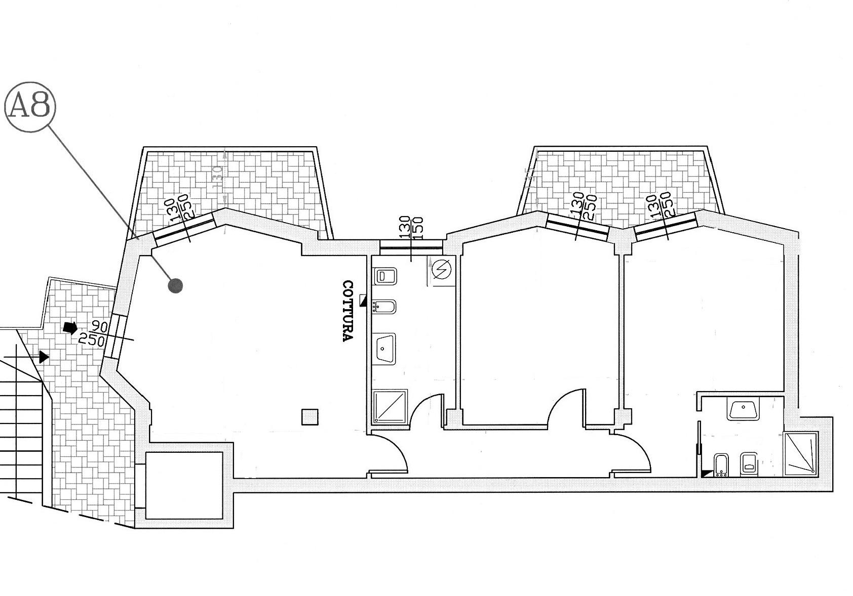 Appartamento in vendita, rif. 84 (Planimetria 1/1)