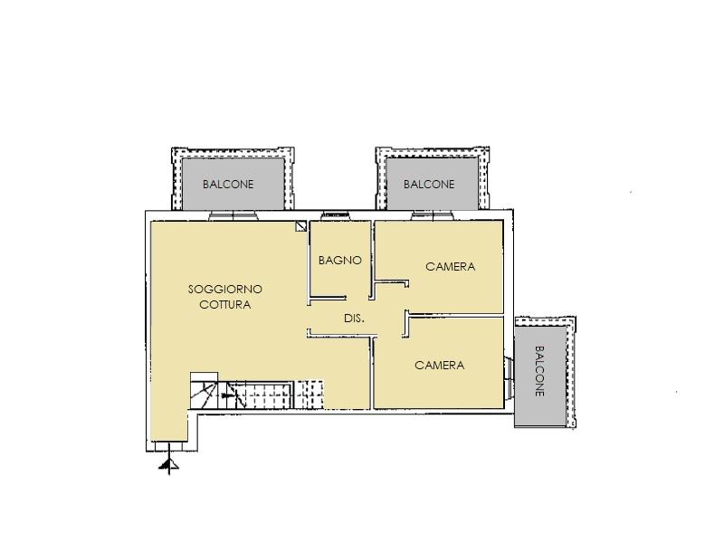 Appartamento in vendita, rif. 480 (Planimetria 1/2)