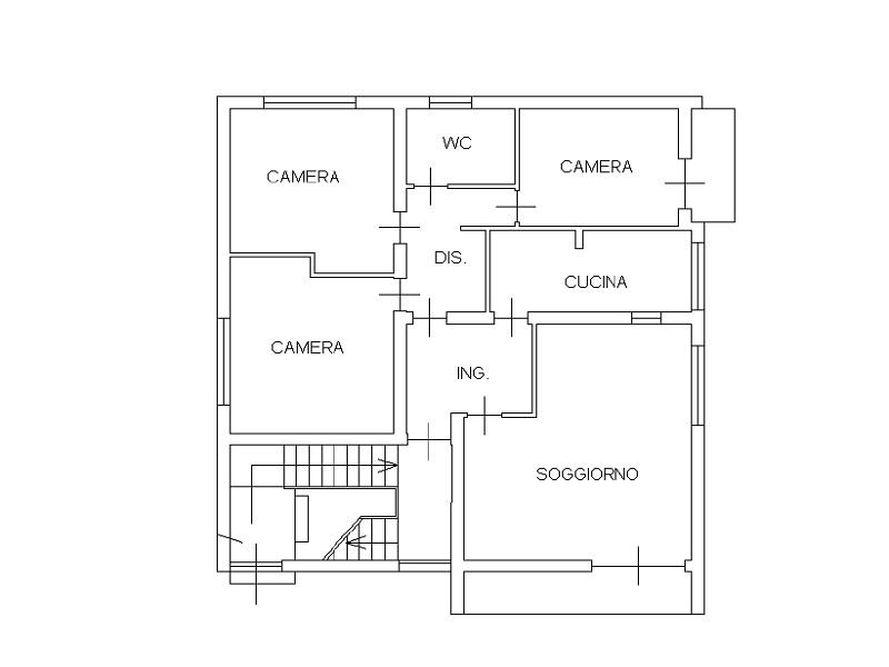 Appartamento in vendita, rif. 525 (Planimetria 1/1)