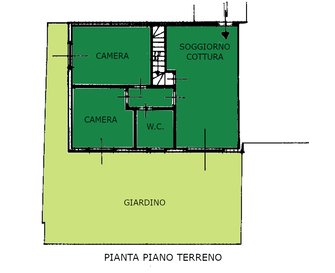 Appartamento in vendita, rif. 600 (Planimetria 1/2)