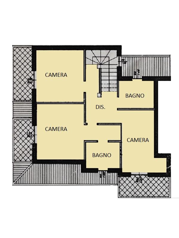 Villetta bifamiliare in vendita, rif. 563 (Planimetria 2/3)