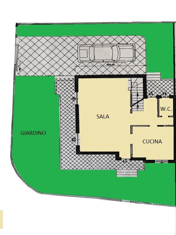 Villetta bifamiliare in vendita, rif. 563 (Planimetria 1/3)