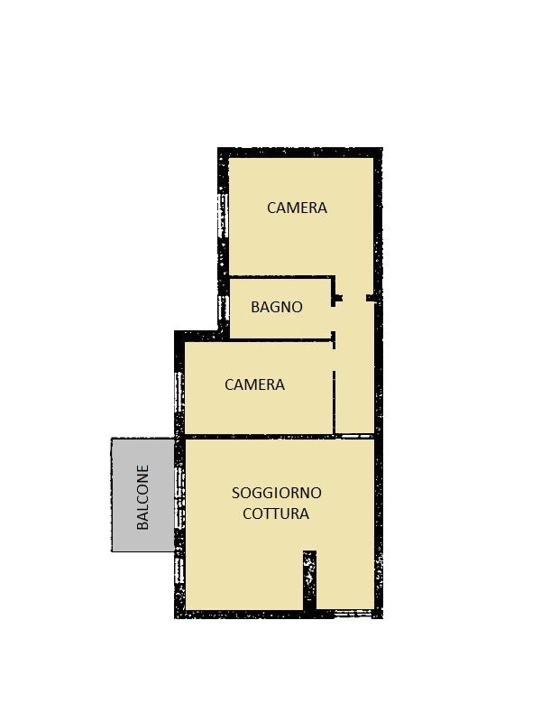 Appartamento in vendita, rif. 418 (Planimetria 1/1)