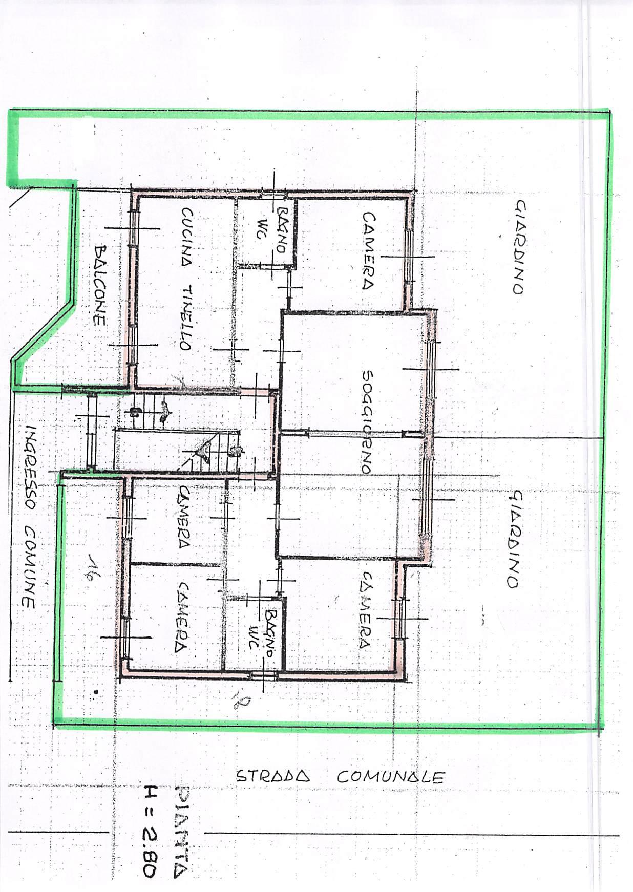 Planimetria 1/2 per rif. B347