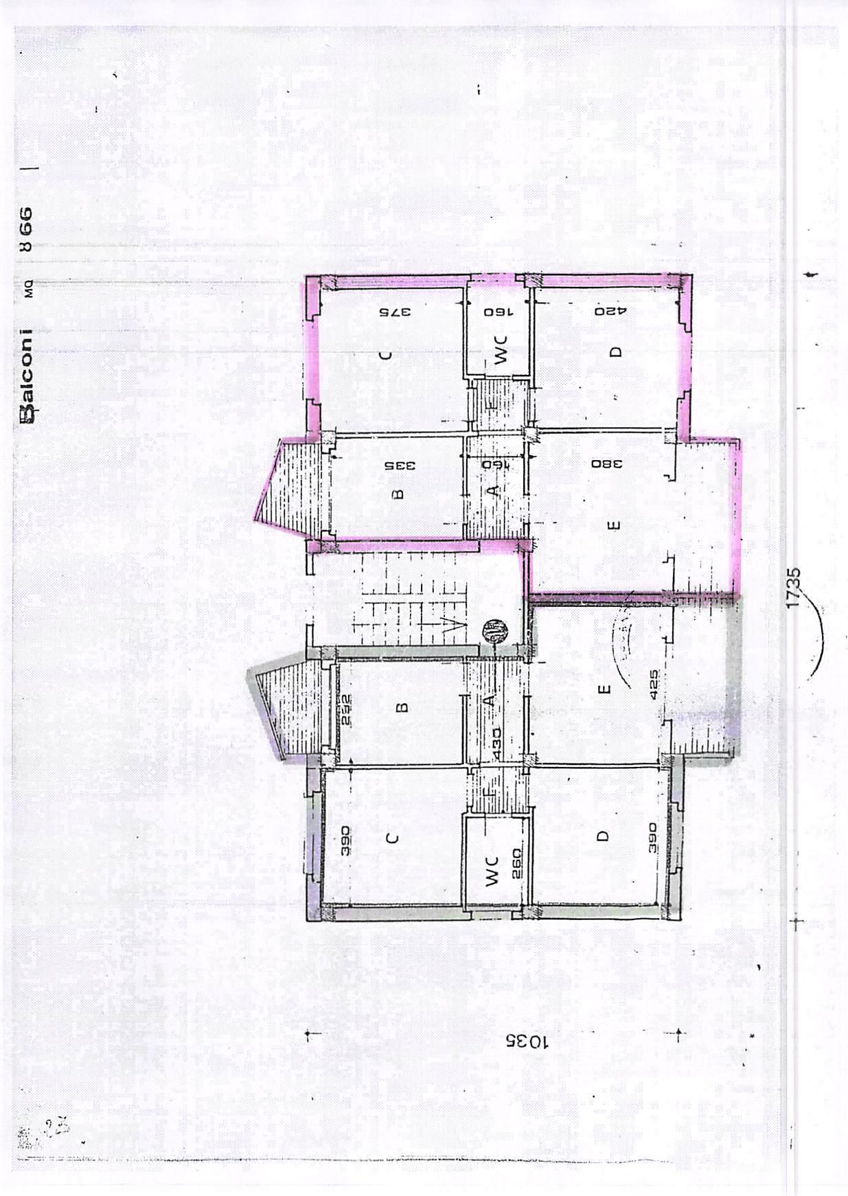 Planimetria 1/2 per rif. A274