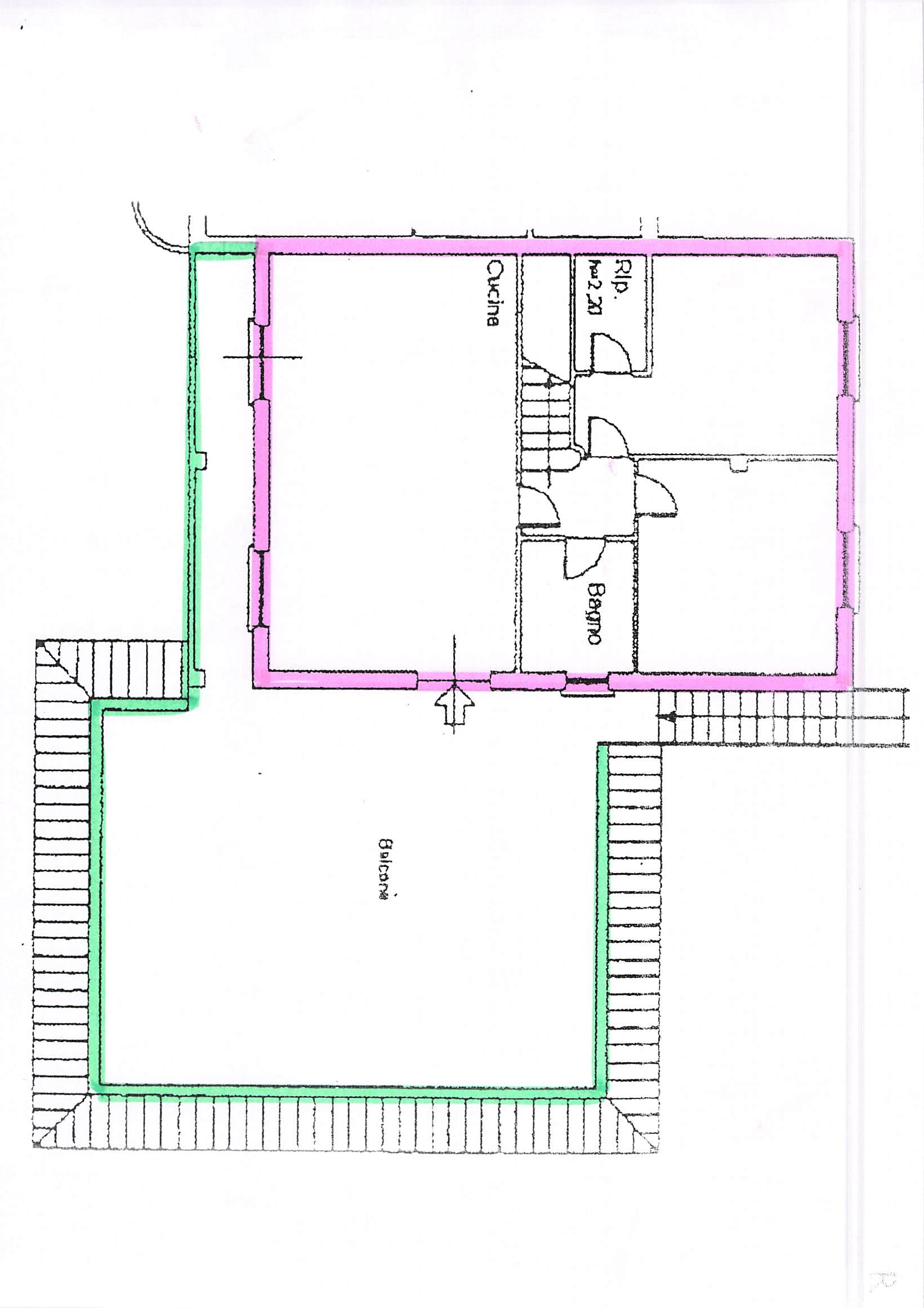 Planimetria 1/2 per rif. B103