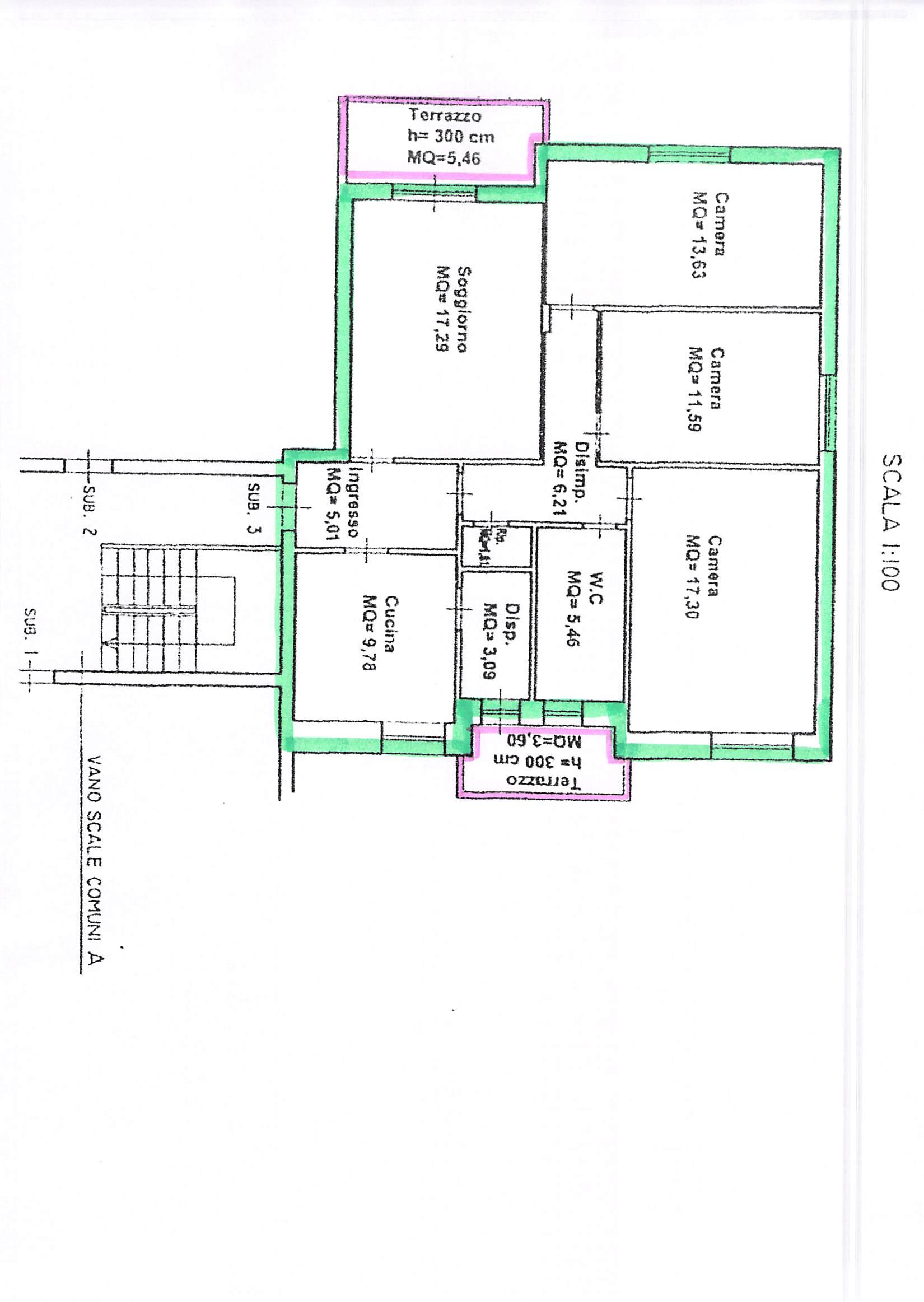 Planimetria 1/2 per rif. A106
