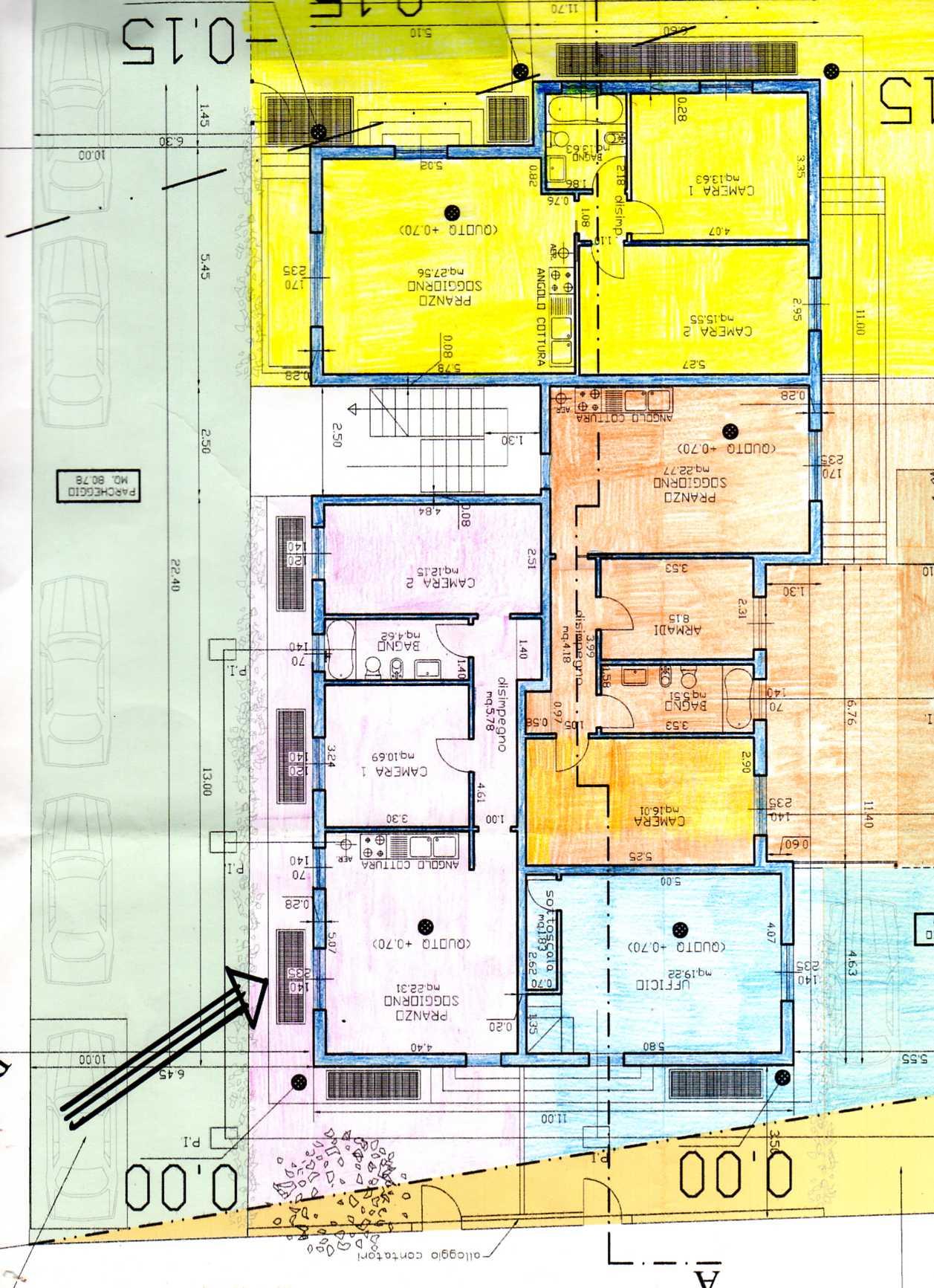 Planimetria 1/1 per rif. A168