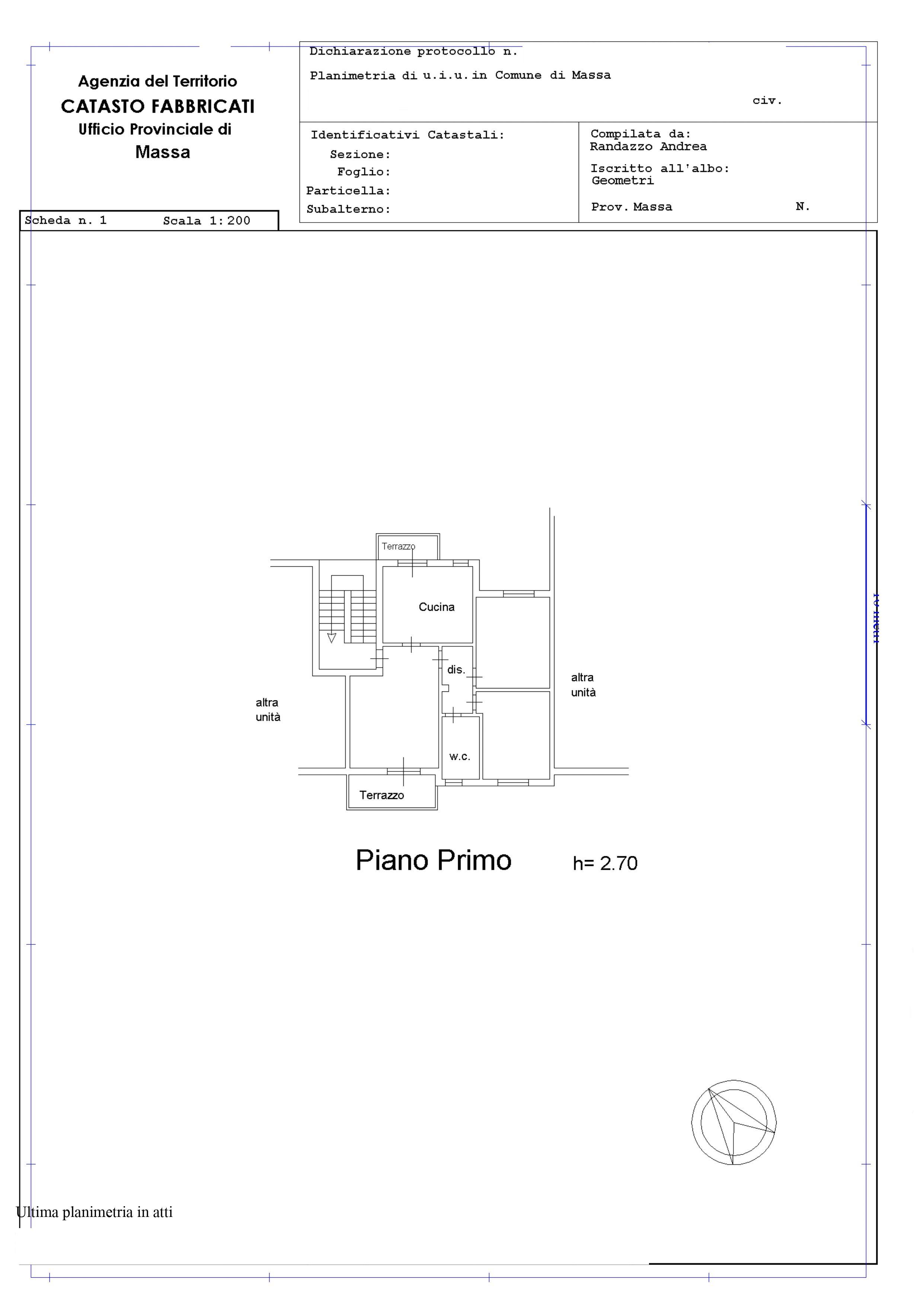 Planimetria 1/1 per rif. A237