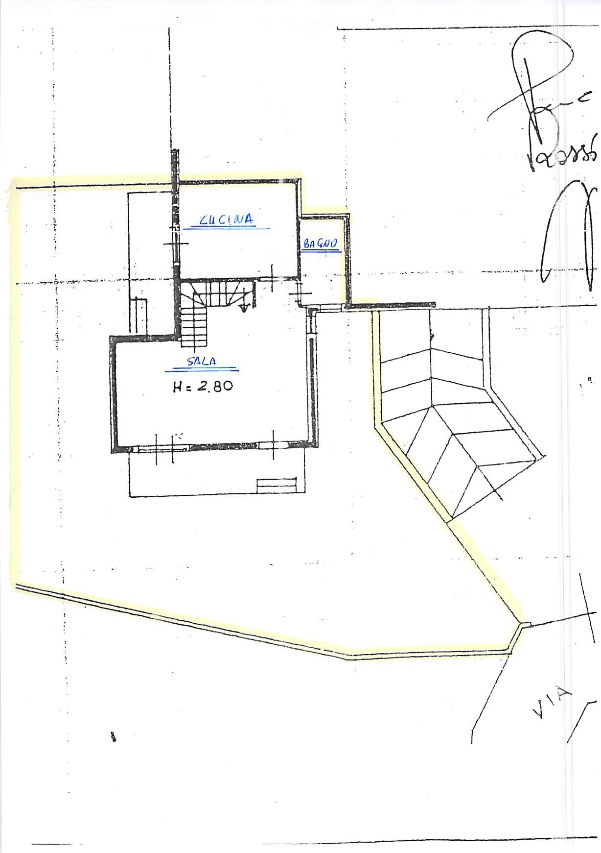 Planimetria 1/4 per rif. B315