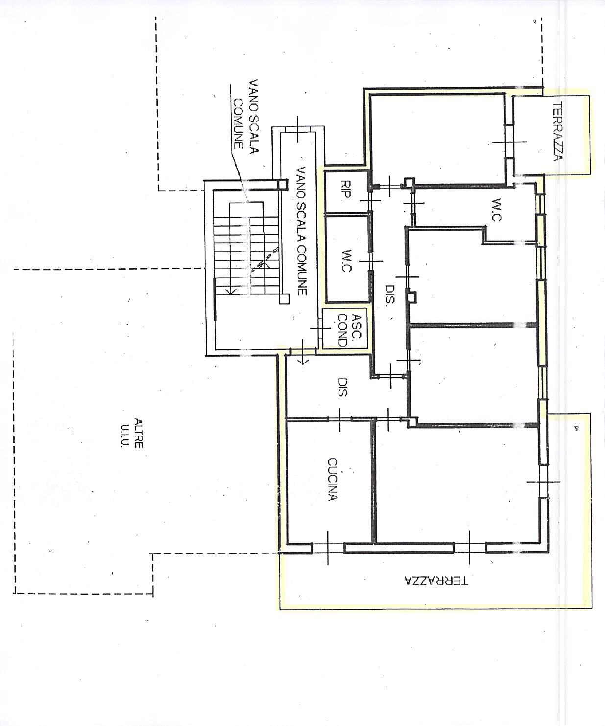 Planimetria 1/2 per rif. A252