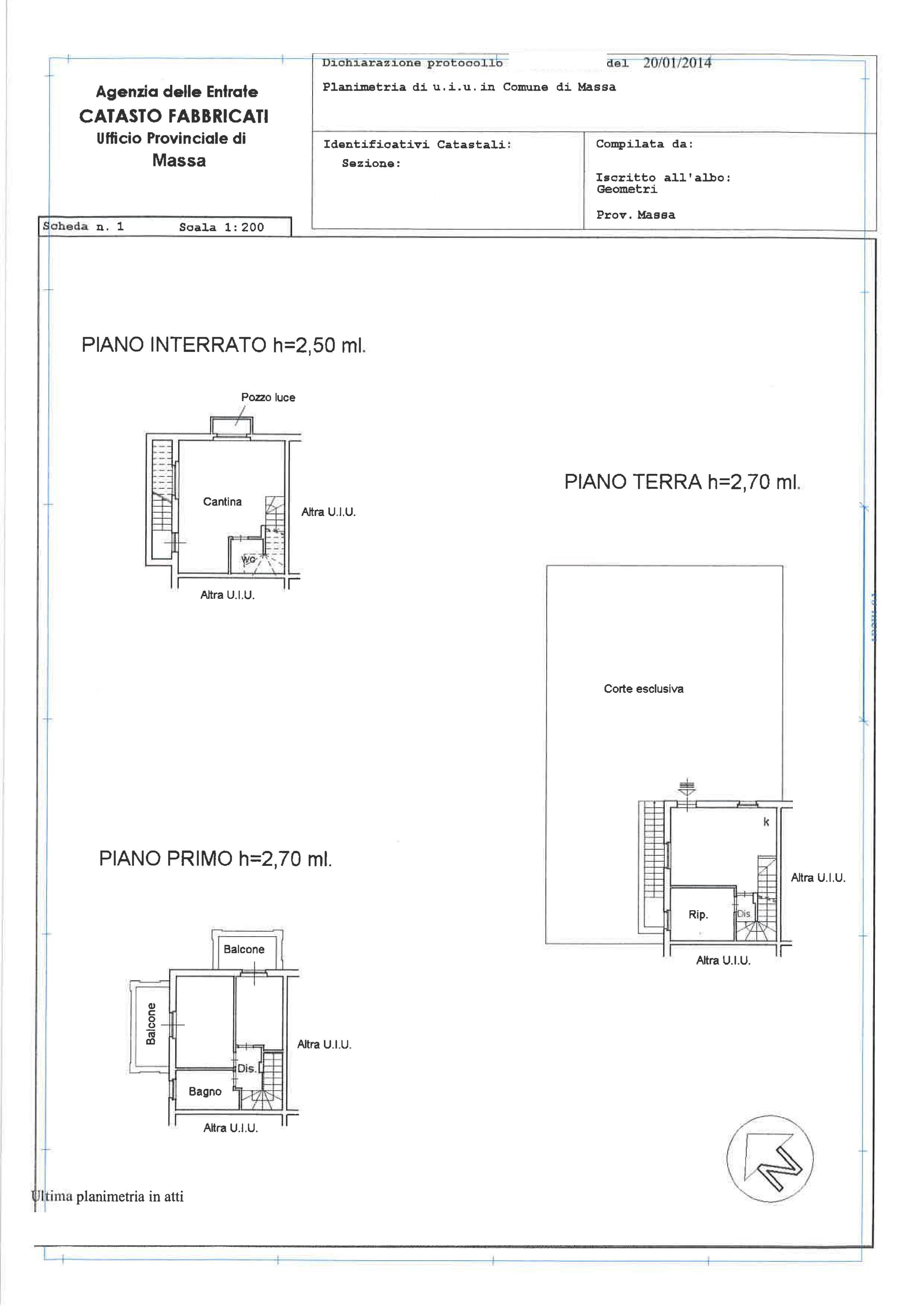 Planimetria 1/1 per rif. A255
