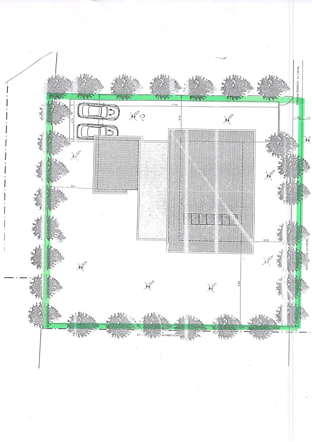 Planimetria 1/4 per rif. T407