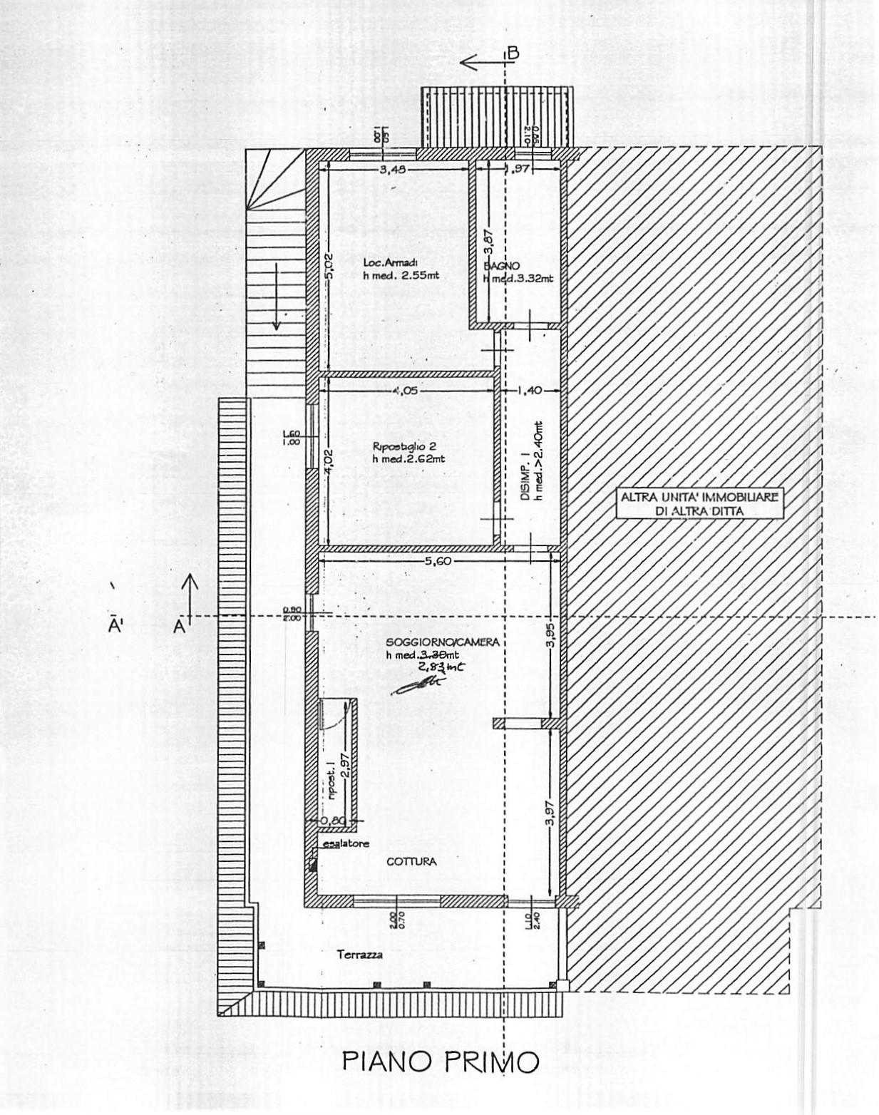 Planimetria 1/1 per rif. A272