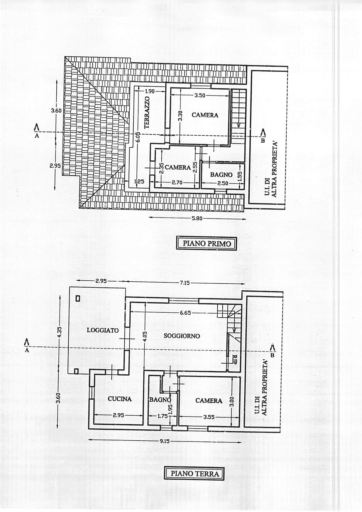 Planimetria 1/1 per rif. B344