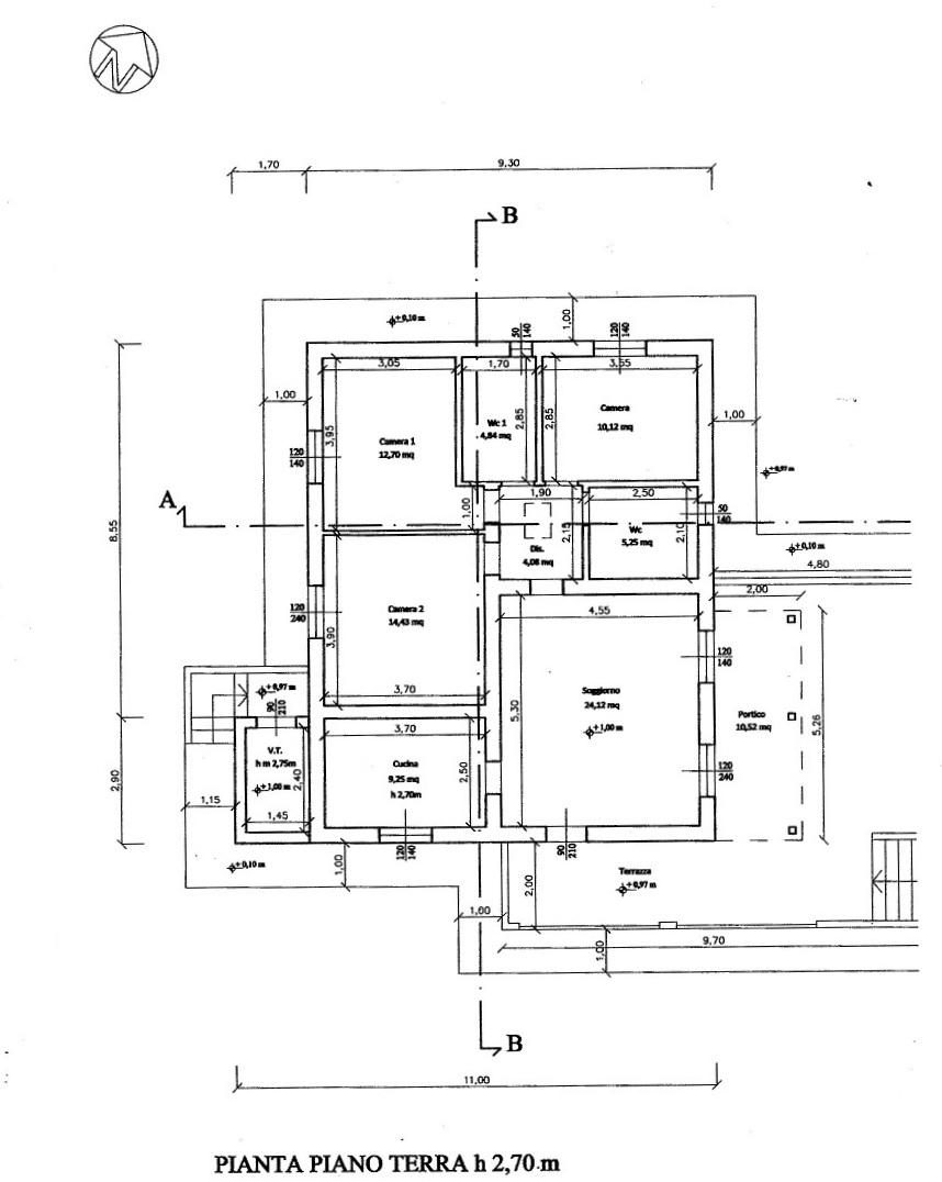 Planimetria 1/4 per rif. MAS13