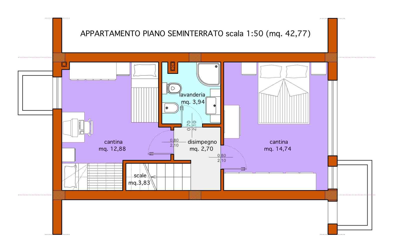 Planimetria 2/2 per rif. A072