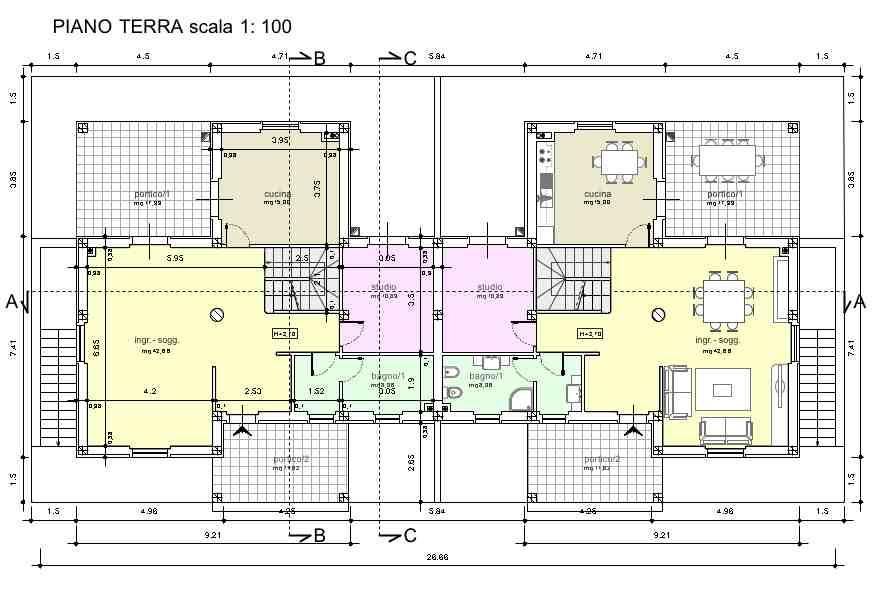 Planimetria 1/4 per rif. R027
