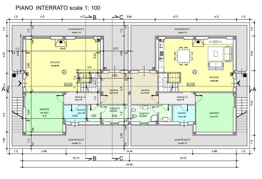 Planimetria 3/4 per rif. R027