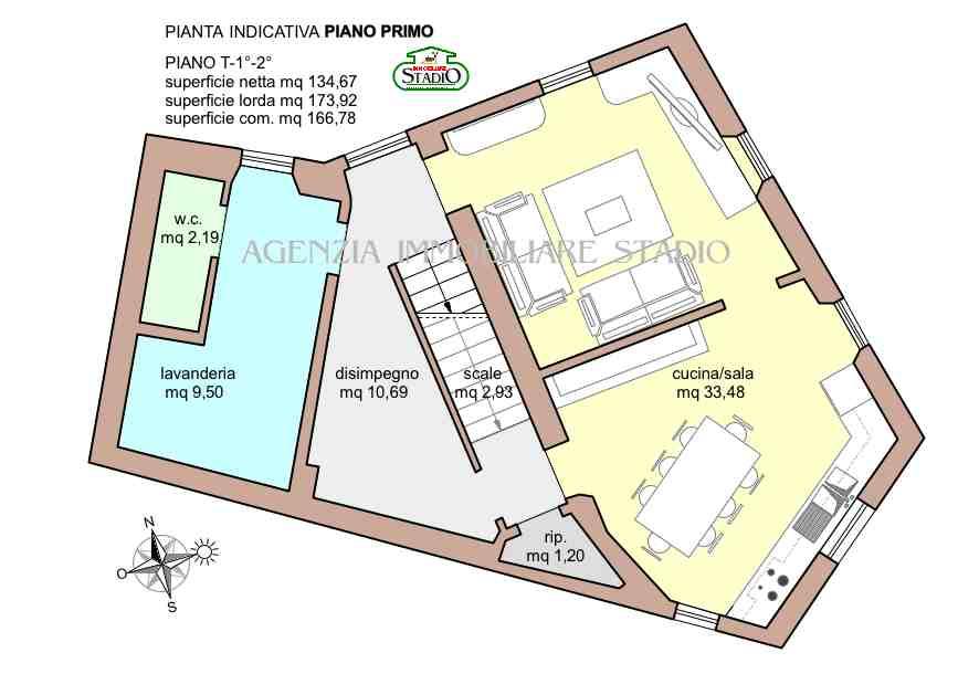 Planimetria 1/3 per rif. C022