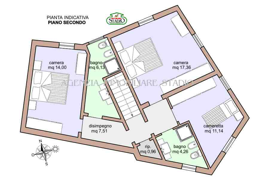 Planimetria 2/3 per rif. C022