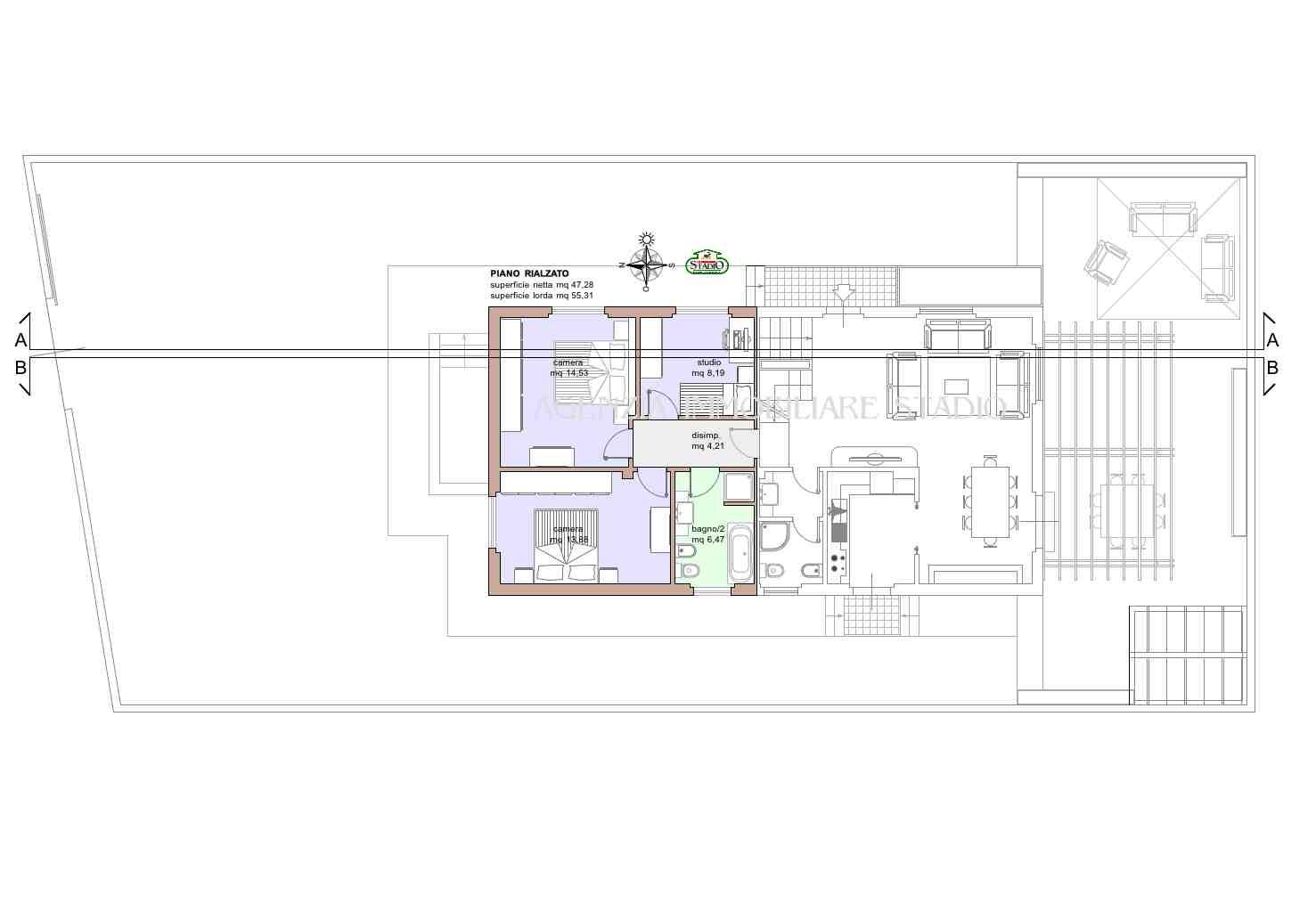 Planimetria 3/4 per rif. C104